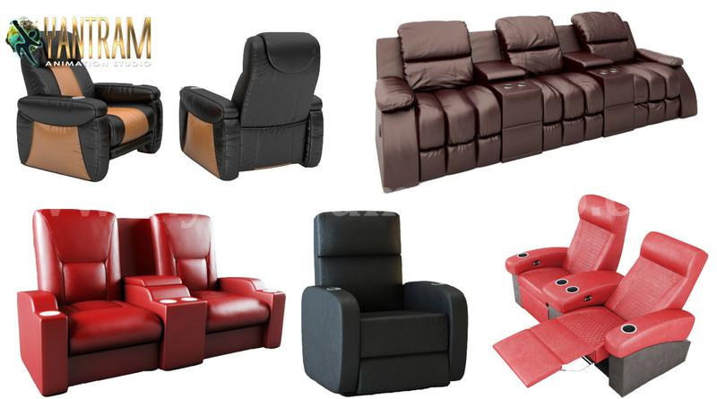 Realistic 3D Sofa Chair Modeling and Visualization Services by 3D Product Animation Studio, NewYork – USA