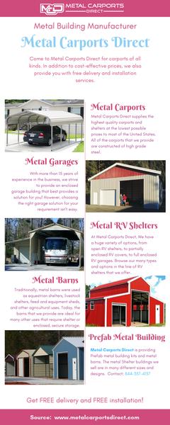Metal Building Manufacturers | Metal Carports Direct