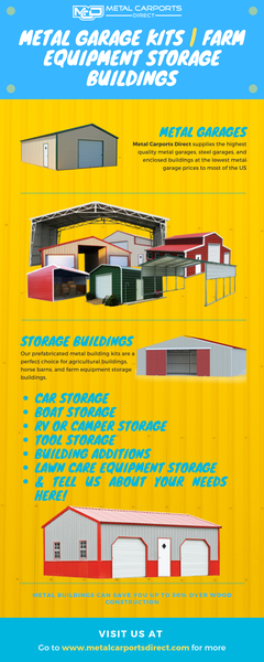Metal Garage Kits | Farm Equipment Storage Buildings