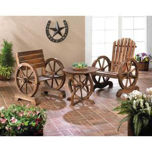 The Rustic, Old-Fashion Wagon Wheel Table
