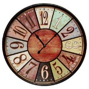 Jumbo Tuscan Wooden Number Wall Clock - Extra Large Wall Clock