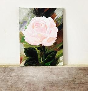 The Pink Flower Acrylic Painting