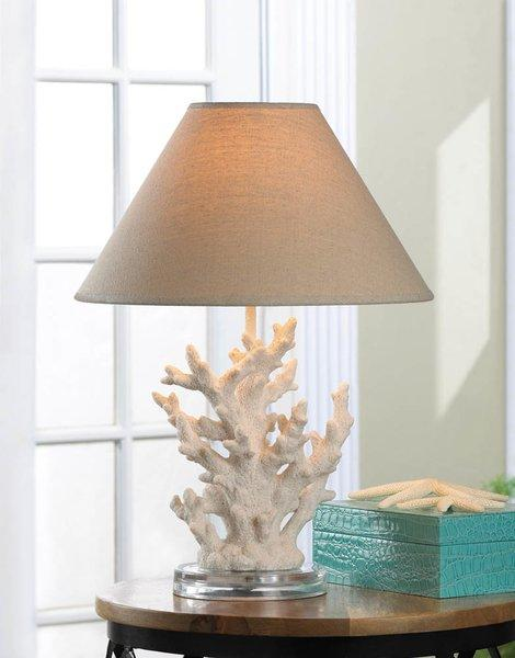 White Table Lamp Coral Table lamps for sale | Vintage Gifts Unlimited