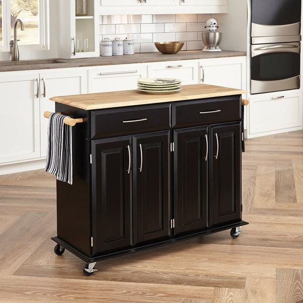 Home Styles 4528-95 Dolly Madison Kitchen Cart, Black Finish - Kitchen Islands & Carts