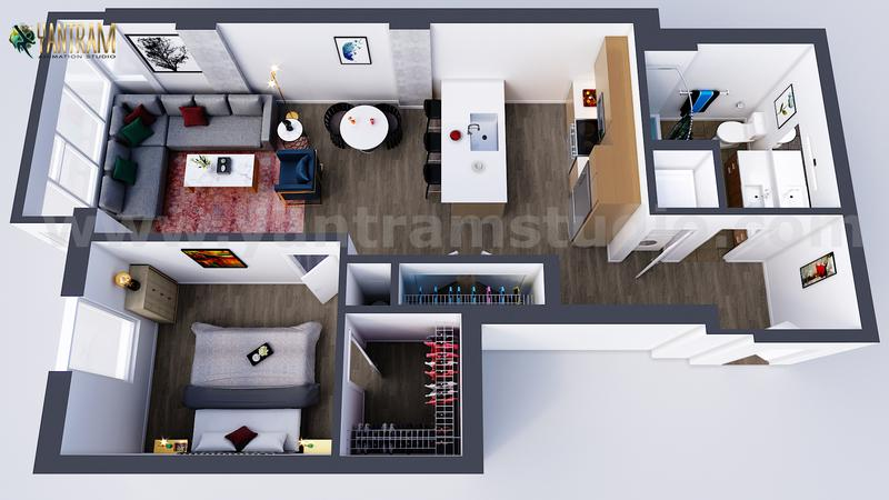 Best 3d floor plan by Yantram 3d Virtual Floor Plan designer, Oak Hill  – West Virginia