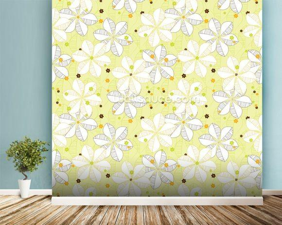 Abstract Floral - Lime