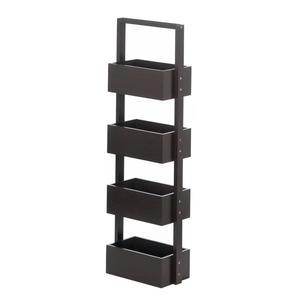 Rectangular 4 Tier Espresso Spa Tower