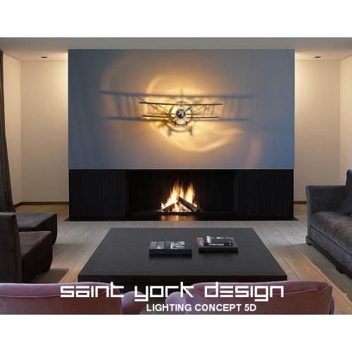 BIPLAN 70 - applique luminaire lampe design ombre portée