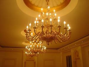 BRASS CHANDELIER IN 24K GOLD