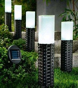 So grand 5Pack Hand-woven Rattan Solar Pathway Lights
