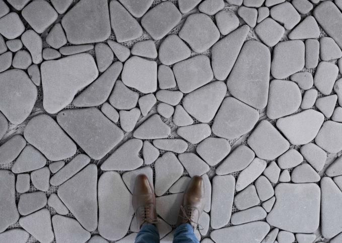 Stepping Stones - Stone Paving Vinyl Flooring