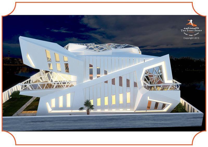 villa design based on deconstructivism concept. Black Bedroom Furniture Sets. Home Design Ideas