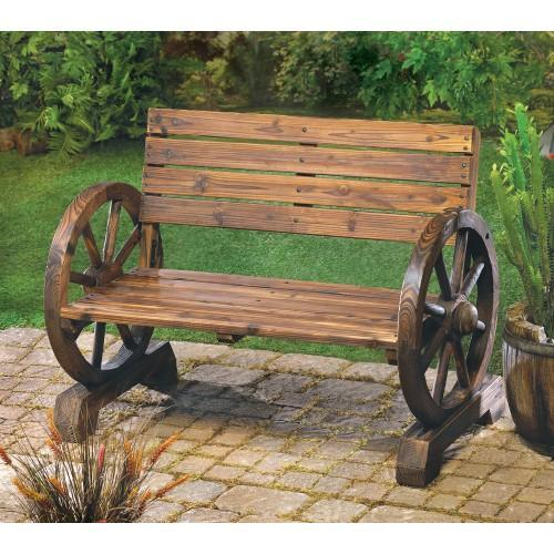 Wagon Wheel Bench - The Sturdy Love Seat