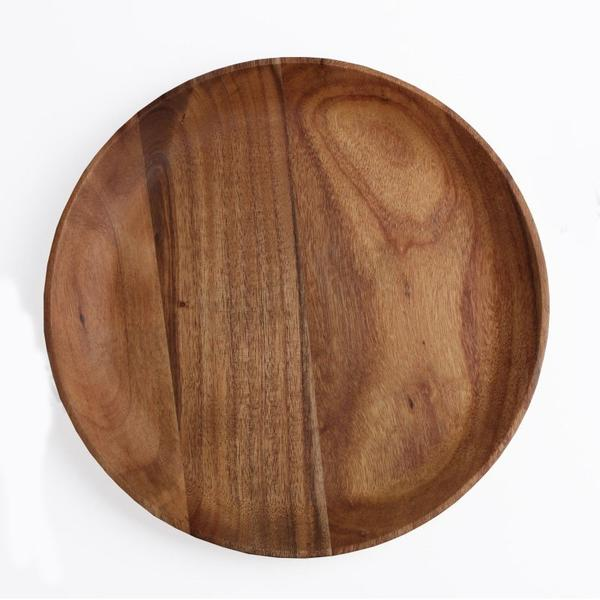 Acacia Wood Round Plate - Tabletop