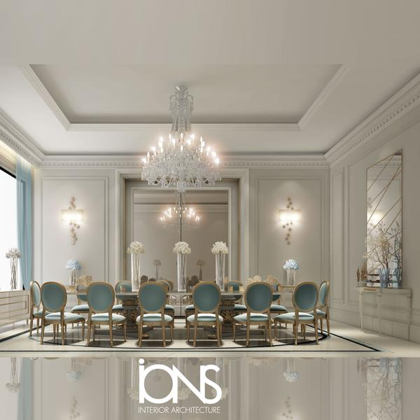 Dining Room Design in Classic French Style Interiors