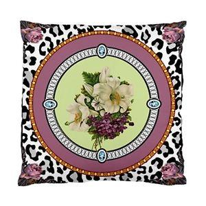 Funky Vintage Liliums AND Violets With Leopard Print Background Cushion Cover | eBay