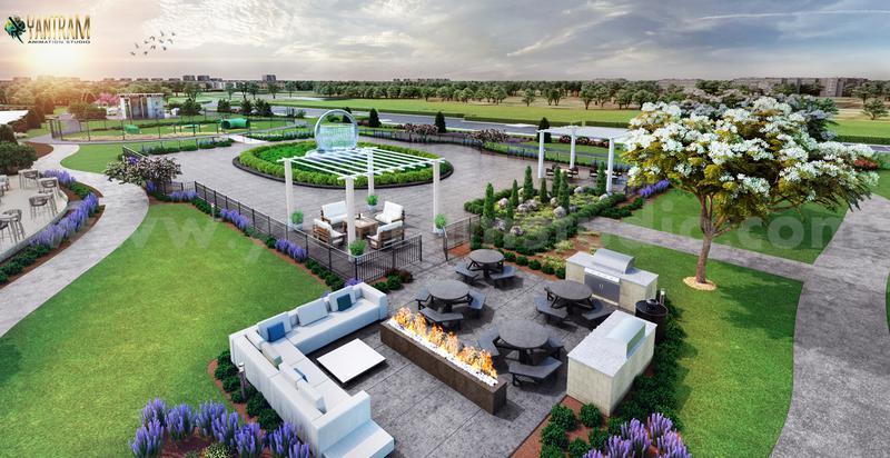 Trendy Community Park landscaping Design Exterior Designer
