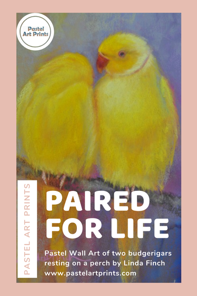 Paired For Life- Pastel Wall Art By Linda Finch