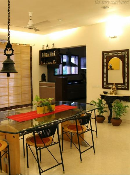 Ethnic indian home decor ideas for Dining room designs india