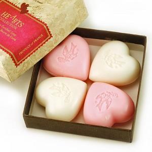 Tea Rose & Camelia - Pre de Provence  French Soap - Hearts of Provence Gift Box - 4 x 25g | Brava Home Decor