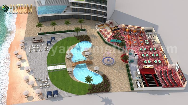 Unique Game Zone with Beach side Swimming Pool