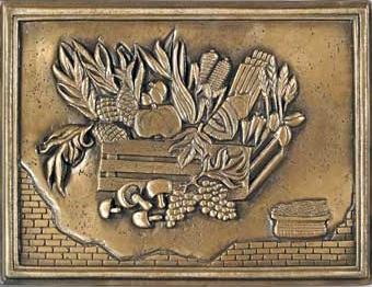 12 x 16 Harvest Plate Mural Bronze