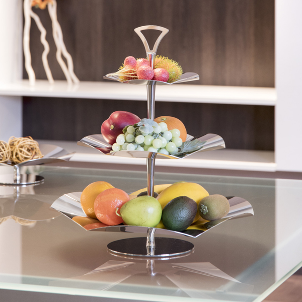 3 Tier Server Stand in Stainless Steel 18/10 Grade                  – platters N bowls