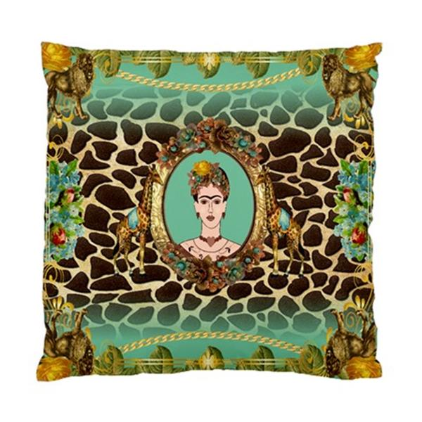 Funky Frida Kahlo Vintage Lions AND Giraffe Print With Flowers Cushion Cover   eBay