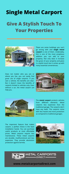 Single Metal Carports
