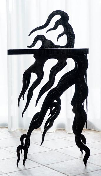 Hand forged table «Flame» - YOU Gallery
