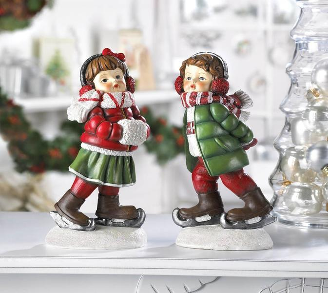 Holly and Noel Holiday Figurines