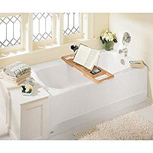 Luxury Bamboo Bathtub Caddy Tray with Extending Sides