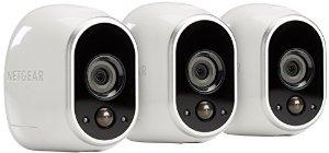 Arlo Smart Security - 3 HD Camera Security System, 100% Wire-Free, Indoor/Outdoor with Night Vision (VMS3330) : Camera & Photo