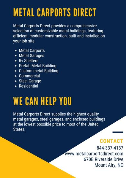 Metal Carports Direct Offers High Quality And Affordable Metal Carports