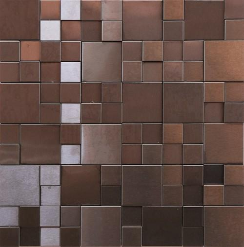 Brushed Gun Metal 3D Versi Mosaic 526-133