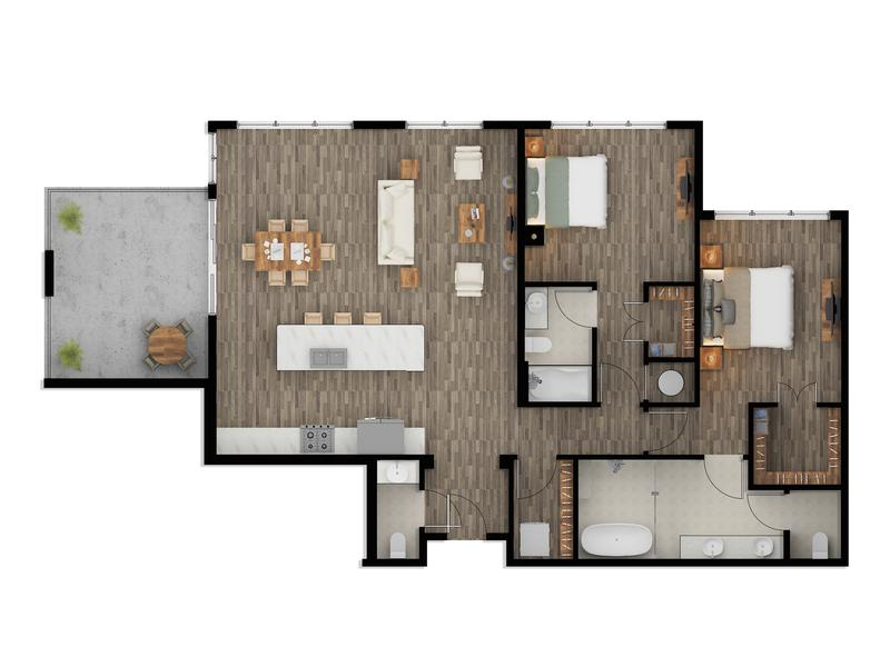 Color Floor Plan Rendering Services Phoenix Arizona
