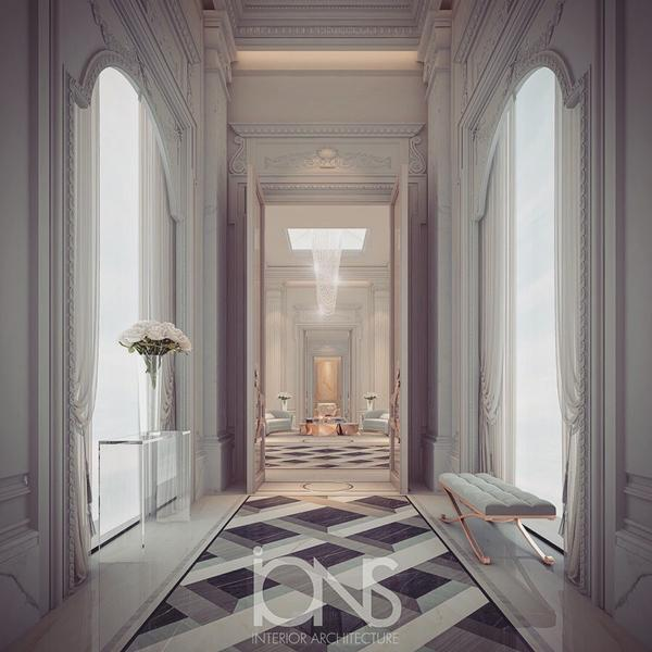 Regal Design Ideas for Palace Hallway
