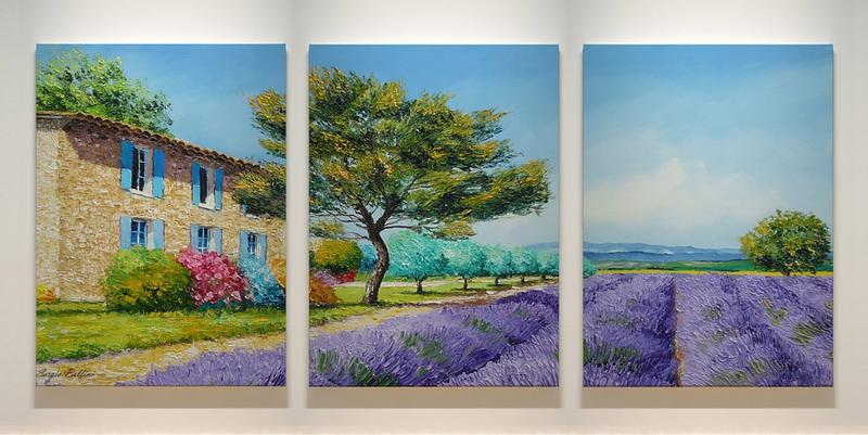 Triptych «Grasse» - beautiful landscape (modular picture) - YOU Gallery