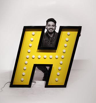 H Graphic Marquee Neon Letter Lamps