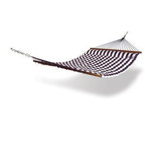 Back Yard Hammock for Two with Pillow - Blue and Green