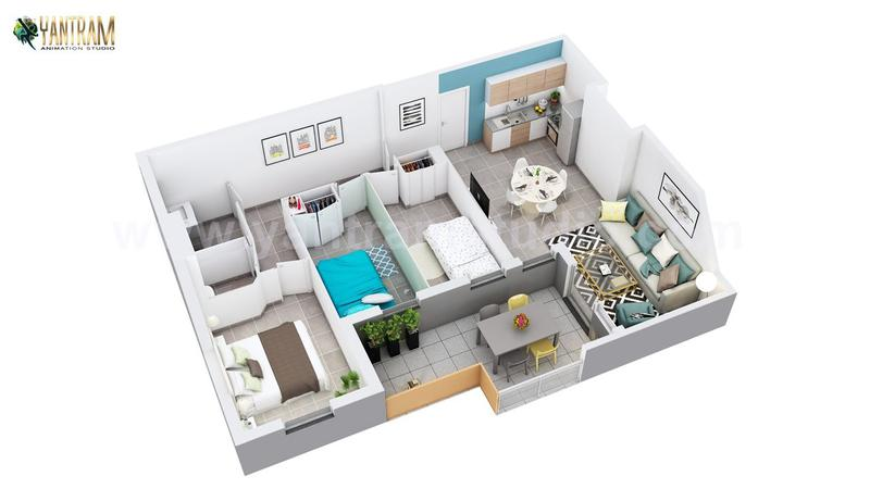 3D Floor Plan of Residential Apartment Layout by Floor Plan Designer -Austin ,Texas