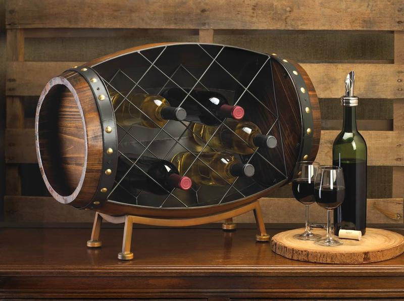 Cask Wine Bottle Rack - Free Shipping