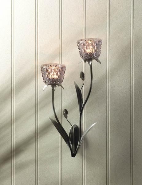 Beautiful Silver Mist Wall Sconce