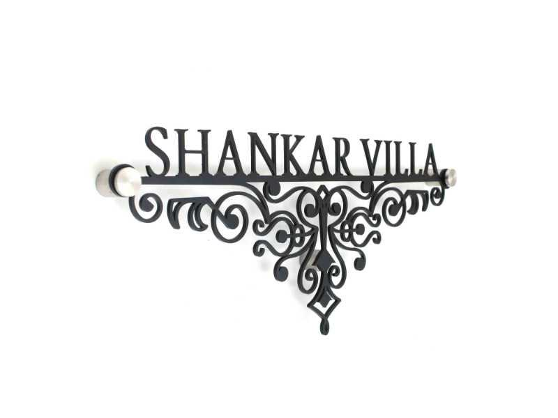 Shankar villa Black - Metal Name Plate Designs for Home and Offices Online in India