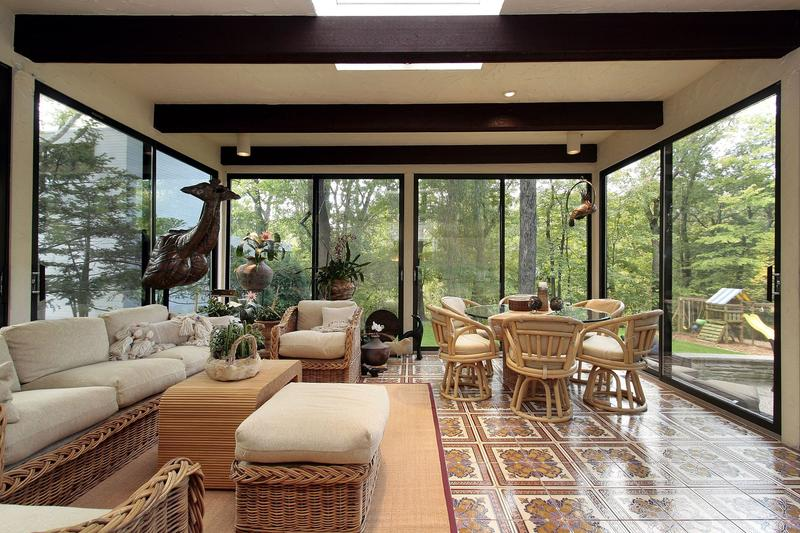 Bask in sun under sunroom florida room designs for How to design a sunroom