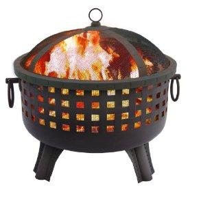 Landmann 26364 23-1/2-Inch Savannah Garden Light Fire Pit, Black : Firepit : Patio, Lawn & Garden