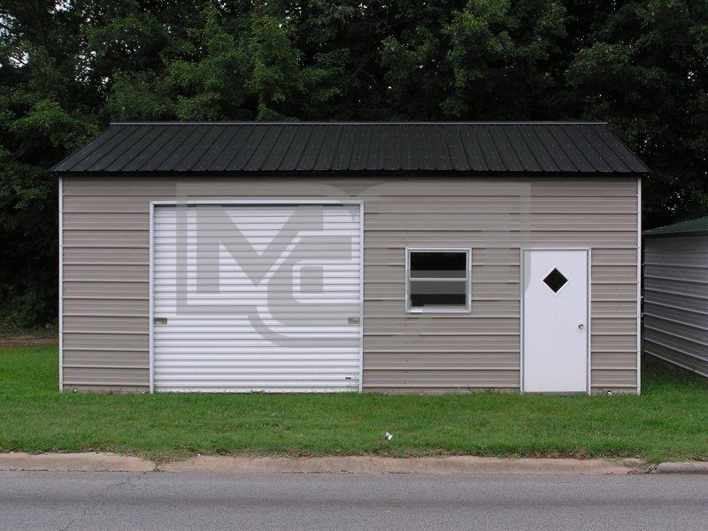 Enclosed Metal Garages for Vehicles Parking