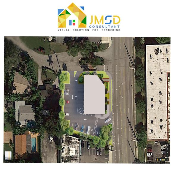 Architectural 3D Site Plan Rendering USA