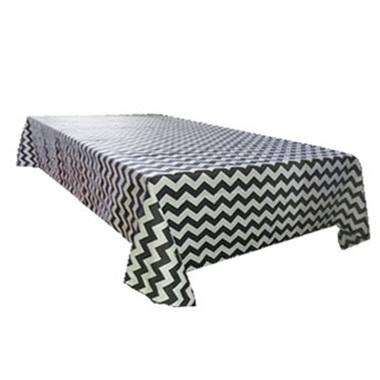 Decorative Cotton Shabby Chevron Print Tablecloth