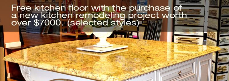 Free Kitchen Floor With the purchase of new kitchen remodeling worth over $7000